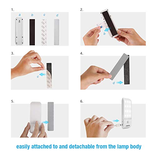 OMERIL Motion Sensor Light, [2 Pack] Cupboard Night Light, USB Rechargeable Battery Powered Light with 24 LED, Removable Magnetic Strip Stick-On Wardrobe, Closet, Cabinet, Kitchen, Stairs, etc