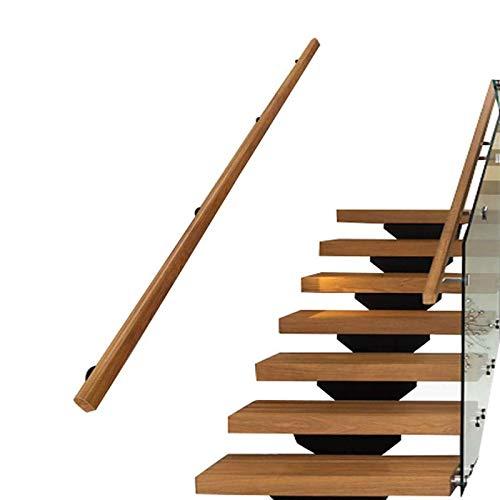 Parrillas de la escalera de pino (1ft-20ft), barandilla de la escalera de madera antideslizante, kit de barra de agarre, casa de interior para interiores barandas de ancianos barras de soporte de corr