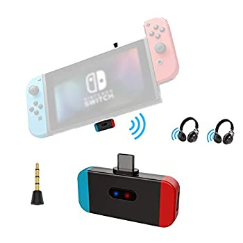 Bluetooth Transmitter Adapter for Nintendo Switch Lite & TV Dock Friencity Low Latency Wireless Audio Dongle w/USB C to A Converter for PS4 Airpods Bose Sony Headphones in-Game Voice Chat &Dual Link