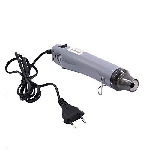 Mofa Mini pistola ad aria calda elettrica 300 W Mini Shrink Heat Tool Embossing Heat Tool Mini asciugacapelli fai da te (argento)
