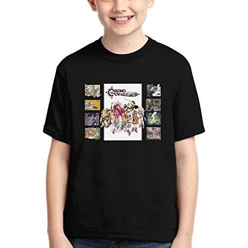Chrono Trigger Boy camiseta de manga corta cuello redondo transpirable cuello redondo camisetpopulares camisetas