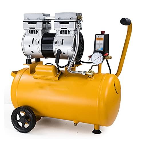 WUK 24 / 30L Pompa d'Aria Portatile 750/1100 / 1500W Compressore d'Aria Silenzioso Senza Olio (65 Db) per riparazioni domestiche, Gonfiaggio di Pneumatici Vernice Spray Utensili Pneumatici 220V