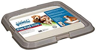 PAWISE Dog Training Pad Holder Tray, Portable Potty Trainer - Indoor Dog Potty - Puppy Pad Floor Tray - Large