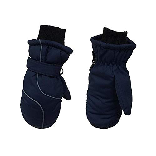 S-tubit Kinder Skihandschuhe für Mädchen Jungen, mit verstellbarem Kordelzug, wasserdichter, schneesicherer Skihandschuh mit rutschfester und abriebfester Oberfläche, Winter im Freien outgoing classic