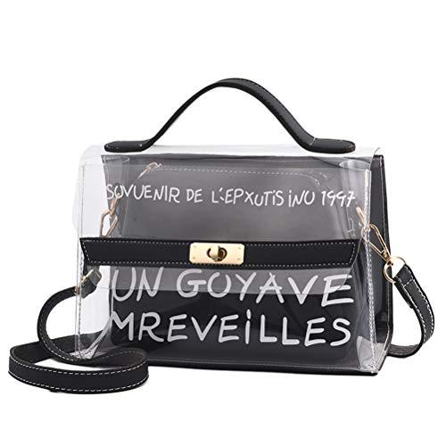 BESTOYARD Transparente Tasche Innentasche Umhängetasche Schultertasche für Frauen Mädchen (Schwarz)