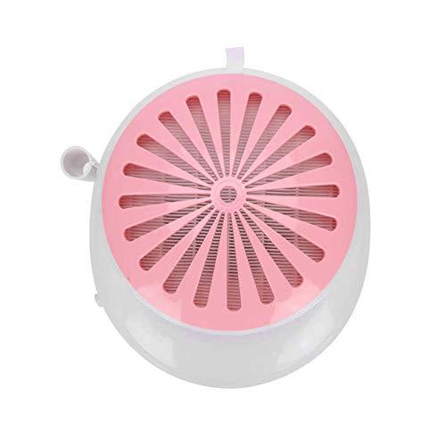 LYHD Aspirador Polvo de uñas Máquina de Colector de Polvo de Succión de Alta Potencia Uñas Ventilador Equipo Profesional de Arte de Pedicura,Rosado
