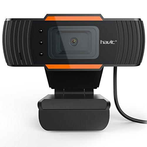 HAVIT USB Pro Webcam für Laptops und Desktop-PCs usw. (Schwarz) (N5086)