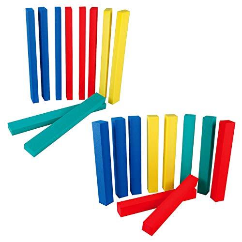 Sport-Thieme Balance-Balken Set   10x kombinierbare Schwebebalken für Kinder   Weicher, Leichter PE-Schaumstoff   80x10x5 cm o. 80x10x10 cm   Vier Farben   Belastbar bis 40 kg