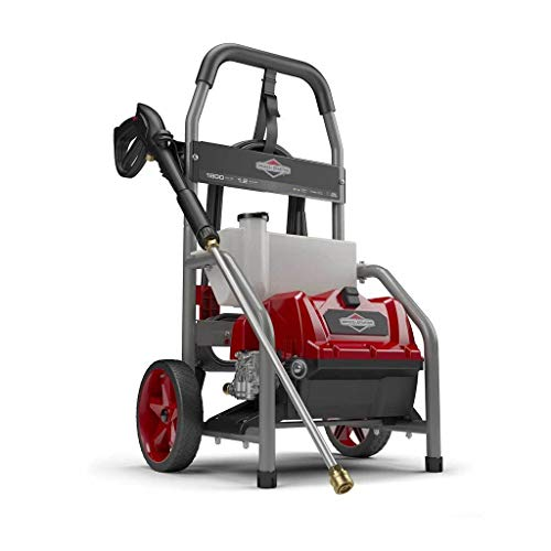 Briggs & Stratton 20680 Electric Pressure Washer, 1800 PSI, 1.2 GPM, Red/Gray/Titanium