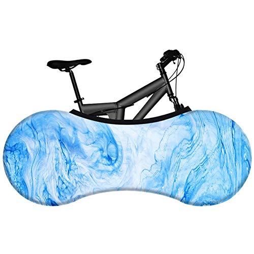 YRDDJQ Cubierta de Polvo de Bicicleta de Moda Tela Elástica Pigmento Ambiental Cubierta de Bicicleta de Carretera sin Decoloración Cubierta de Polvo de Neumático, F