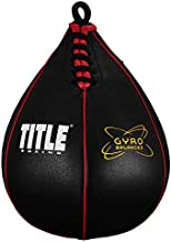 TITLE Boxing Gyro Balanced Speed Bags, Black, Small