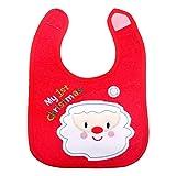 YeahiBaby Baberos Impermeables de Navidad para bebés con Deseos navideños y...