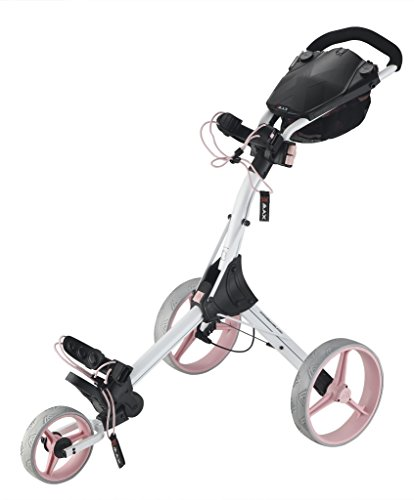 Big Max IQ+ Golftrolley Cart - 2015 Modell (Weiß/Pink)