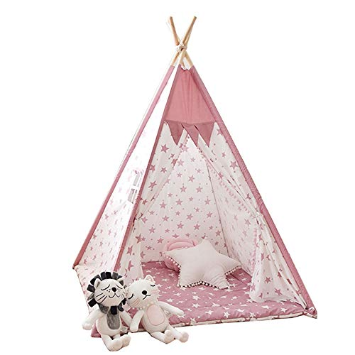 FHLH Kids Play Tent Children's Classic Indian Game Tent Children's Indoor/Outdoor Foldable Tent Tent Boys And Girls Children's Room Decoration Home Decor for Indoor Games