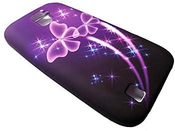 FastSun TPU Soft Crystal Skin Cover Phone Case For ZTE JASPER LTE Z718TL  Purple Butterfly