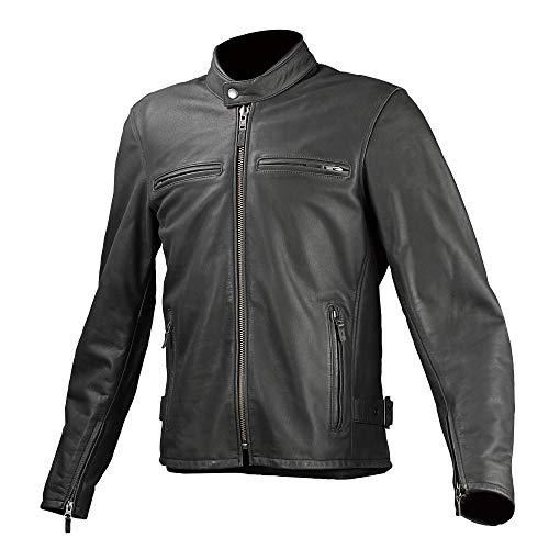 コミネ(KOMINE) バイク用 レザージャケット シングルライダースレザーアウター ブラック M 02-534 牛革 本革