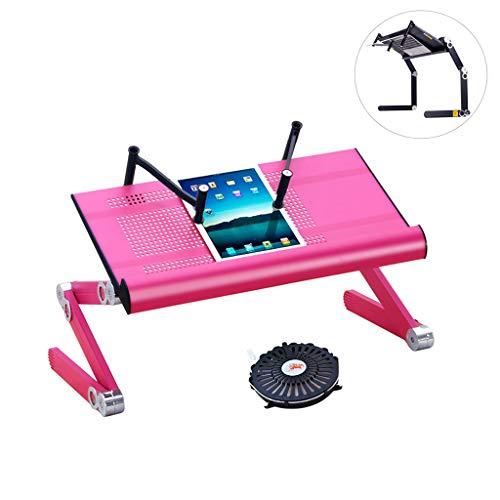 Laptopbureau voor bed, Lap Desks bedplanken om te eten en laptops, 360 ° verstelbare computerplank, opvouwbaar aluminium bureau voor bankbed en bank liggen