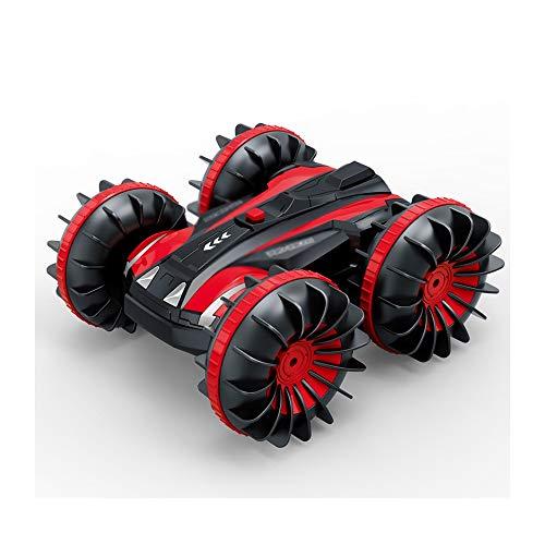 Angelay-Tian Kinderspielzeugauto, amphibische Fernbedienung Auto 2,4g Fernbedienung Entfernung 60 Meter Allradantrieb Kann 360 Grad an Ort Stellen, kann das Fahren drehen können (Color : A)