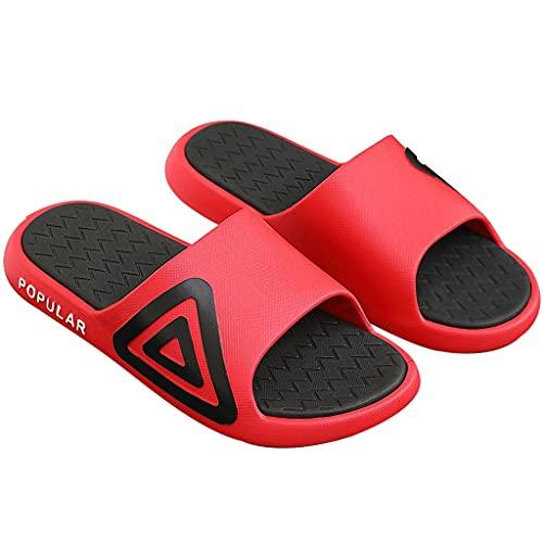 QUNHU Pantofole Soft Shower Shower Pantofole Aperte Dita dei Piedi Antiscivolo Diapositive per Piscina Antiscivolo velocità di Asciugatura (Color : Red, Size : 38-39EU)
