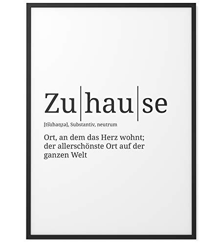 Papierschmiede Definition: Zuhause | DIN A4 | Poster mit Worterklärungen wie im Duden für Deine Wanddeko | Kunstdruck für den Bilderrahmen - ohne Rahmen