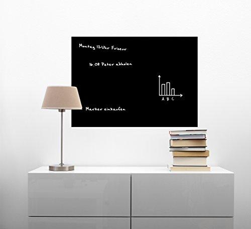 Werbe Tafel magnetisch & selbstklebend   60cm   15 Größen l schwarz l Kreidetafel l Wandtafel Magnet Tafel l inkl. Kreidestift + 10 Magnete (60x90cm)