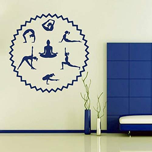 Tianpengyuanshuai Fotobehang Yoga Studio Fitness Gym Sportvereniging Turnhalle decoratieve vinyl raamsticker