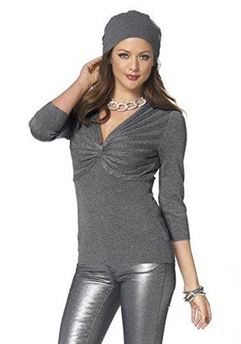 Melrose Pullover grau Super weiche Viskose-Qualität Gr. 36