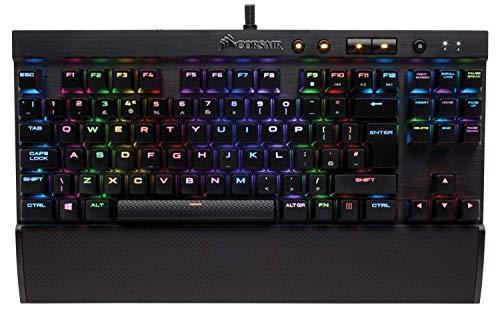 Corsair K65 RGB Rapidfire Tastatur USB Italienisch Schwarz - Tastaturen (Mini, Verkabelt, USB, Mechanischer Switch, RGB-LED, Schwarz)
