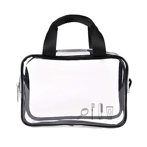 WMFL - Borsa Trasparente per Cosmetici, Approvata da NFL/TSA 3-1-1/PGA Airline/Stadio, per Giochi Sportivi, concerti BTS, Double Carrying Bag, 24 * 14 * 7cm
