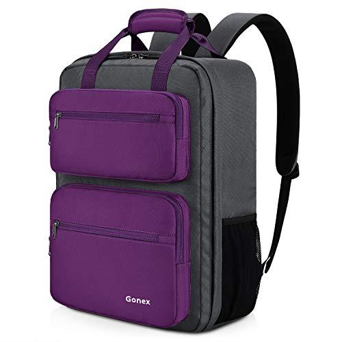Gonex 35L Reiserucksack, strapazierfähig und wasserabweisend großer Rucksack mit Mehreren Taschen für Reisen, Wandern, Camping, Lila Violett