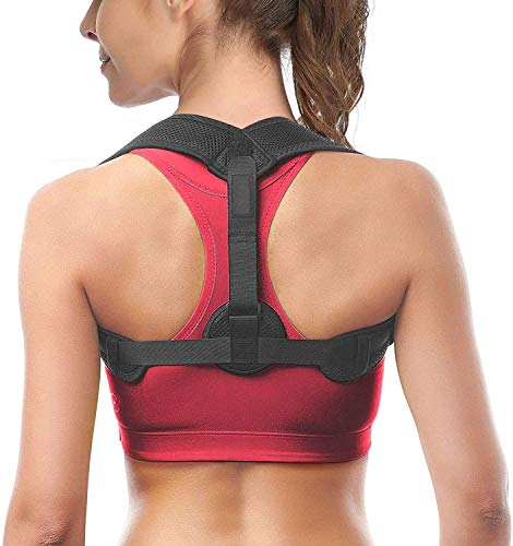 Posture Corrector for Women Men, Back Brace, Comfortable Posture Trainer for Spinal Alignment and Posture Support, Adjustable Back Straightener (Regular)
