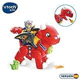 VTech 3480-519622 Fauces Le Grand Dragon Tuttut Amis Jouet interactif avec chansons, Voix et Deux Personnages Multicolore