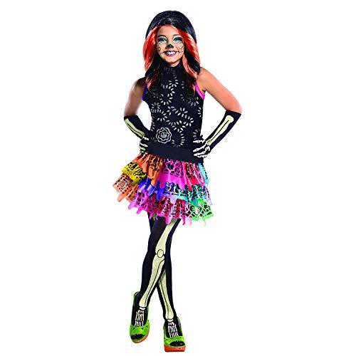 Monster High Skelita Calaveras Gr. M (5-7 Jahre) Fasching Karneval Kostüm Kinderkostüm Mottoparty Kleid Boo York