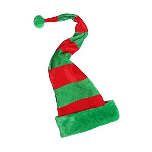 Striped Clown Hut, Weihnachten Holday Sankt Clown Hut Urlaub Weihnachten Stoffmütze Lange Hat Einheitsgröße Weihnachten Hut für Kinder und Erwachsene