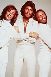 The Bee Gees Robin Maurice Barry Gibb White Suits Saturday Night Fever 24x36 Poster