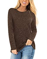 Womens Cute Tops Crew Neck Knit Sweaters Long Sleeve Tunics Blouses for Leggings 2019 Pullovers