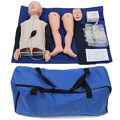 HUAQINEI Maniquí de Primeros Auxilios para RCP, maniquí Elikliv para bebés y niños, simulador de reanimación cardiopulmonar para la enseñanza de la respiración Artificial médica