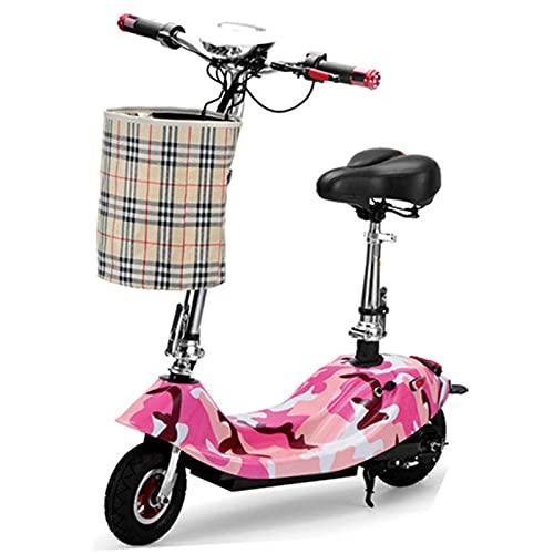 AFSDF Scooter eléctrico para niños de 8 años o más, Cubierta de luz LED, neumáticos Frontales llenos de Aire, hasta 40 Minutos Tiempo de Viaje Continuo,D