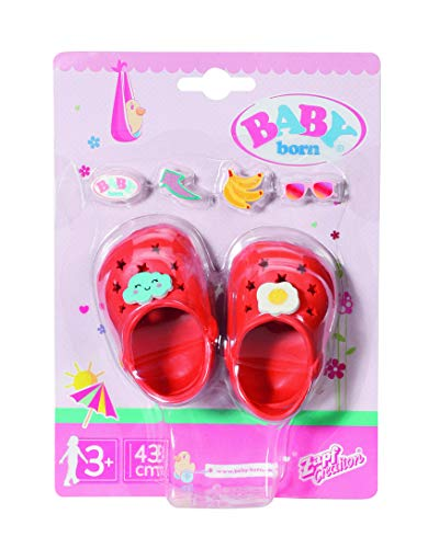 BABY born 829677 Holiday ShoeswPins orange 43cm