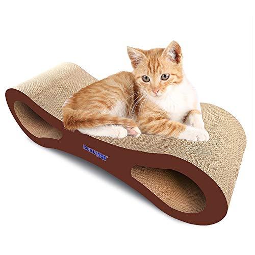 Qiuge Sofá Cama de Gato, Verano Backless Cat Sofá de Papel Corrugado Cat Scratch Board Glaw Gusting Toy, Estable y cómodo