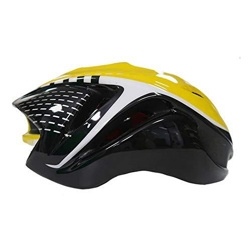 UPANBIKE Mountain Bike Riding Helmet One-Piece Ciclismo Ajustable Bicicleta Skateboard Head Protector Mediano Tamaño para Adultos Hombres Mujeres(Amarillo y Negro)