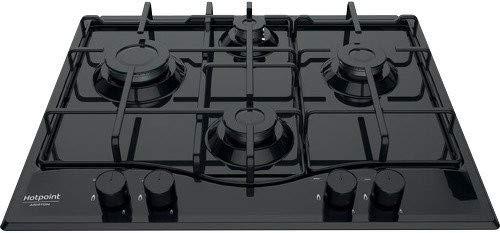 Hotpoint PCN 642/HA(BK) Plan de cuisson à gaz, 3000 W, métal, noir