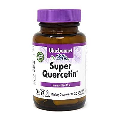 Bluebonnet Nutrition Super Quercetin Vegetable Capsules, Vitamin C Formula, Best for Seasonal & Immune Support, Non GMO, Gluten Free, Soy Free, Milk Free, Kosher, 30 Vegetable Capsules