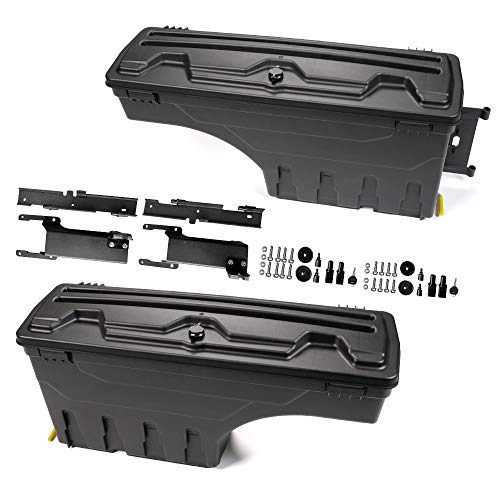 Passenger and Driver Side Lockable Truck Bed Storage Box Toolbox Case For Ford F150 2015-2019 One Pair Set