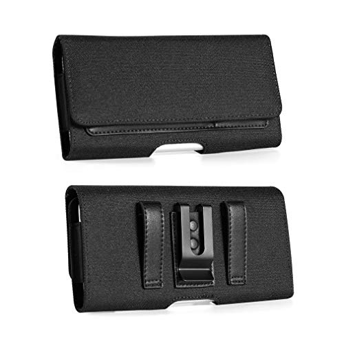 Outdoor Work Nylon Handytasche Gürtelclip Holster Tasche mit Gürtelschlaufe ID Kreditkartenfächer für LG V50 ThinQ, V40 V20, Stylo 4, Razer Phone 2, Blu Vivo XL4, X, Xiaomi Mi A2, Note 6 Pro, 5