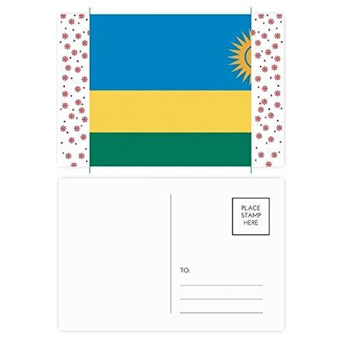 Rwanda Nationale Vlag Afrika Land Kerstmis Bloem Postkaart Thanks Card Mailing 20 stks