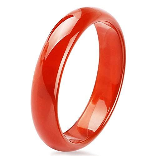 QVQV Pulsera de Jade Pulsera de Jade de ágata roja Transparente de Hielo de cornalina para Mujer Pulsera de Jade de Zhenghong A Goods con Caja de Regalo con Certificado