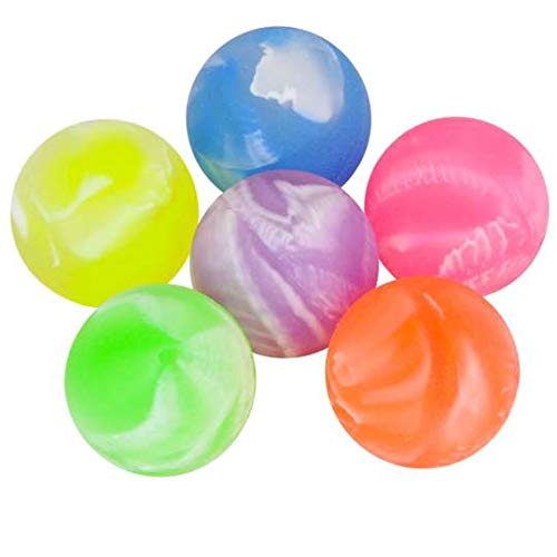 SHATCHI 15Pcs Bouncy Jet Balls Colourful 20MM Birthday Party Fillers Boys Girls School Prizes Loot Bag Piñata Toys