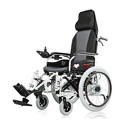 Y&XF Silla de Ruedas eléctrica Anciano Coche discapacitado Anciano Inteligente Mentira Completa...
