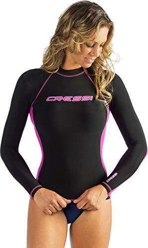 Cressi Man Long Sleeve Rash Guard, black/pink, XS